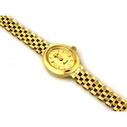 Złoty zegarek damski owalny GENEVE